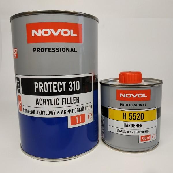 NOVOL PROTECT 310 Акриловый грунт HS 4+1 черный 1,0 + 0,25 л отвердителя