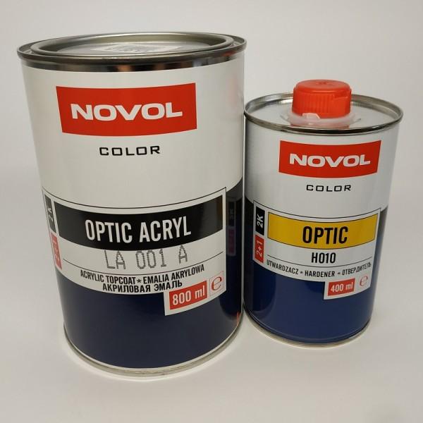 Акриловая эмаль NOVOL 101 белый 0,8 л + 0,4 л отвердителя