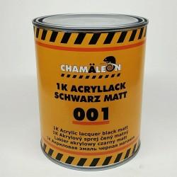 CHAMAELEON 001 1К Акриловая эмаль черная матовая 1л