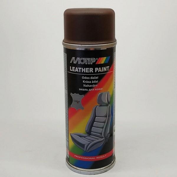 Эмаль аэрозольная для покраски кожи шоколадно-коричневая Ral 8017 Motip 200 мл