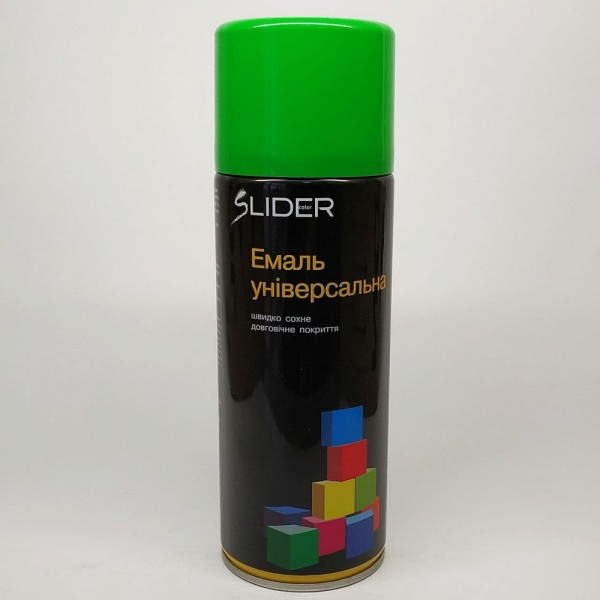 LIDER Эмаль универсальная RAL 400 мл (6018 салатовая)