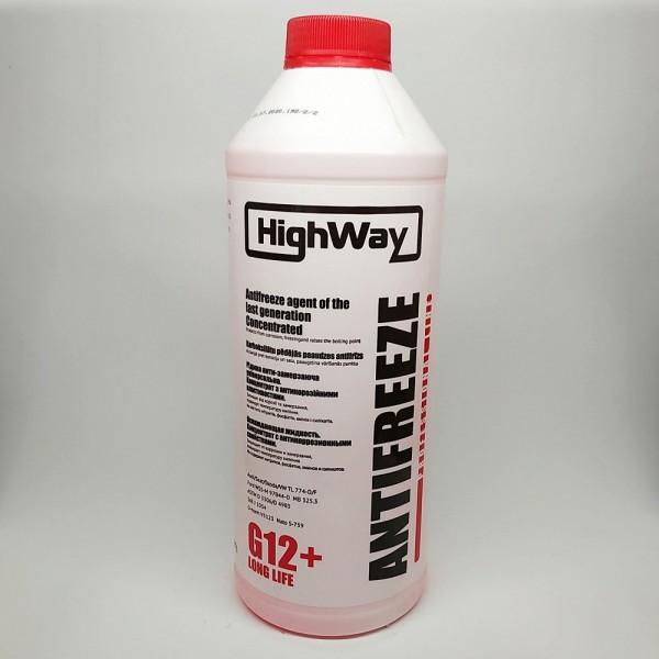Рідина анти-замерзаюча HighWay Антифриз G12 концентрат червоний 1,5л