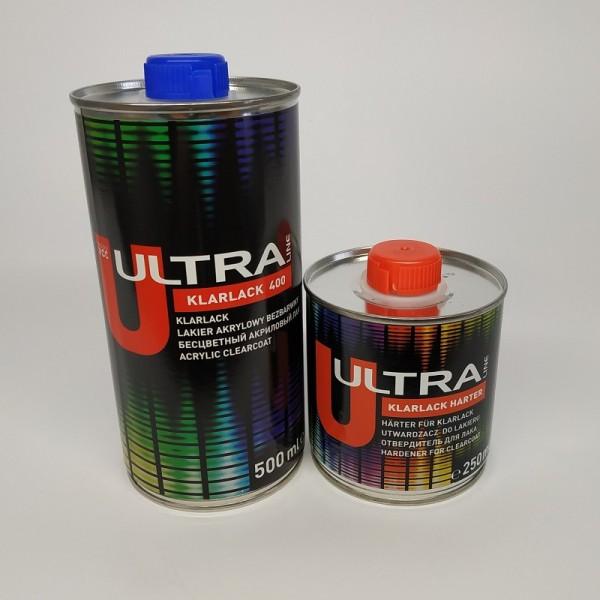 ULTRA LINE 400 Бесцветный акриловый лак 2+1 ( 0,5 л+0,25л)