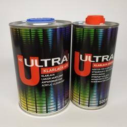 ULTRA LINE 400 Бесцветный акриловый лак 2+1 (1,0+0,5)