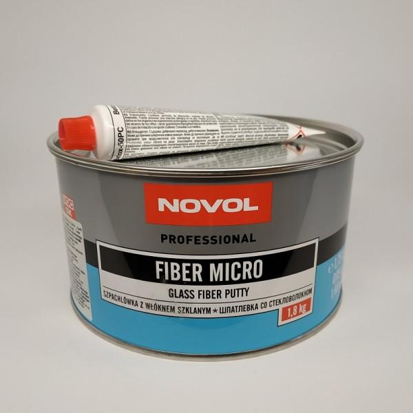 NOVOL Шпатлевка Fiber Micro с микростекловолокном 1,80 кг