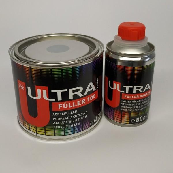 ULTRA LINE FULLER 100 акриловый грунт 5+1 ( 0,4 л+0,08л) серый