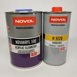 NOVOL Бесцветный акриловый лак NOVAKRYL 590 2+1 комплект 1 л + 0,5 л отвердителя
