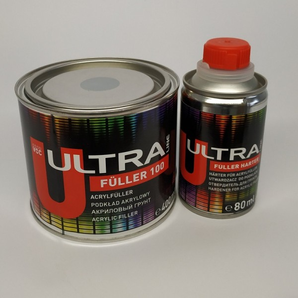 ULTRA LINE FULLER 100 акриловый грунт 5+1 ( 0,4 л+0,08л) белый