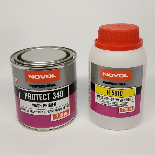 NOVOL PROTECT 340 Реактивный кислотный грунт WASHPRIMER комплект 0,2 л + 0,2 л отвердителя