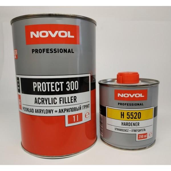 NOVOL PROTECT 300 Акриловый грунт 4+1 черный 1,0 + 0,25 л отвердителя