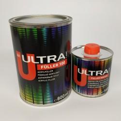 NOVOL ULTRA LINE FULLER 100 акриловый грунт 5+1 ( 0,8 л+0,16л) серый