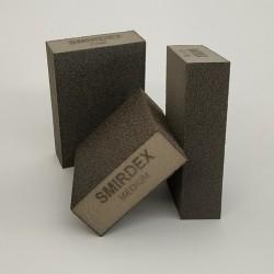 Абразивная губка SMIRDEX 4 стор. 100х70х25 мм Coarse