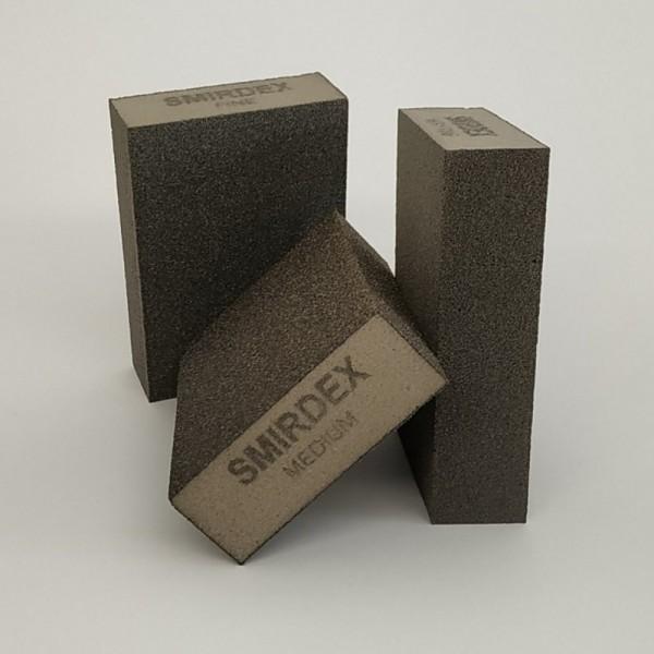 Абразивная губка SMIRDEX 4 стор. 100х70х25 мм Medium