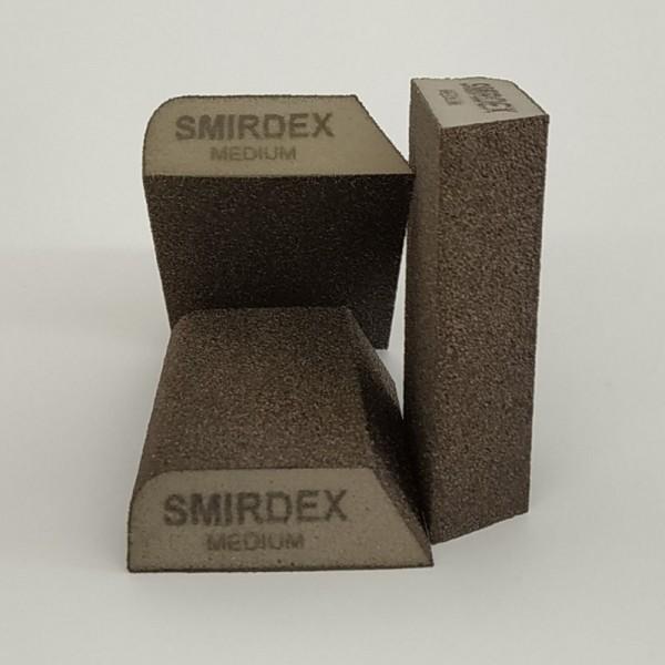 Абразивная губка SMIRDEX комби 4 стор. 100х70х25 мм Medium