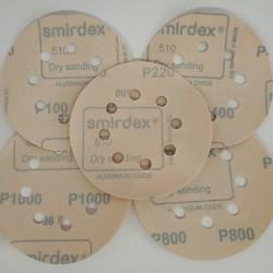 Шлифовальный круг(8 отв) диаметр 125мм SMIRDEX WHITE DRY SANTING LINE 525